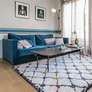 tapis berbere moderne blanc kaboshon par edito With tapis berbere avec canapé made in design