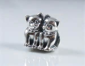 authentic genuine pandora silver purrfect together cat