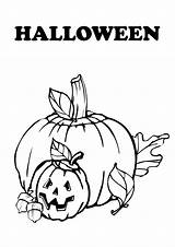 Halloween Coloring Pumpkin Pumpkins Carved Decorations Heads Popular sketch template