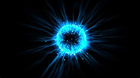 Blue Light Energy by Blue Flare Fiber Optic Laser Flying Particles