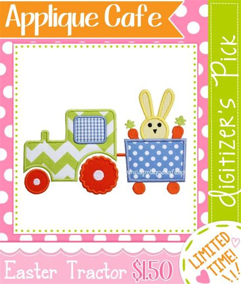 Applique Cafe by Easter Tractor Applique Design Applique Cafe Machine