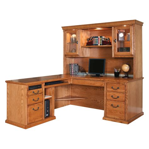 l shaped desk and hutch huntington oxford left handed l shaped computer desk and