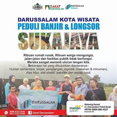 Darussalam Longsor Wisata Kota Sukajaya Banjir Peduli