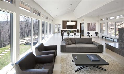 Best Minimalist Living Room In Open Space With Large