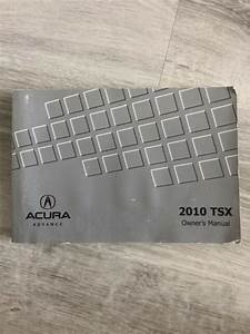 2010 10 Acura Tsx Owners Manual Guide M0223