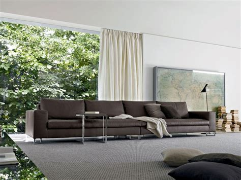 brown couch with grey pillows and curtain ideas for modern