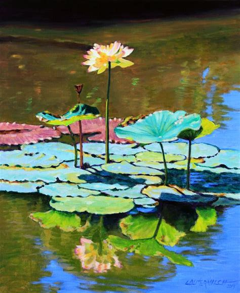 Paintings For Dining Room by Lotus Above The Lily Pads Paintings By John Lautermilch