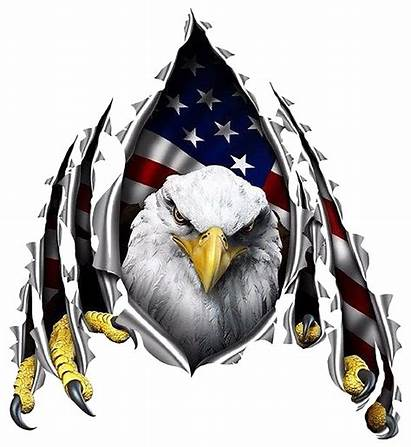 Patriotic Decal Metal Flag American Eagle Quotes