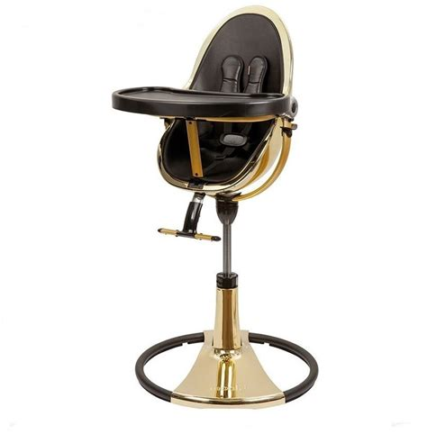 chaise haute bloom fresco chrome ch 226 ssis gold black