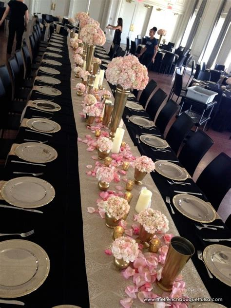 black gold and white wedding tables search wedding centerpieces black