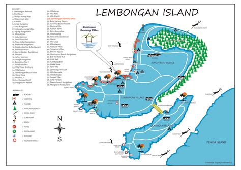 pin  lembongan guide  map  lembongan