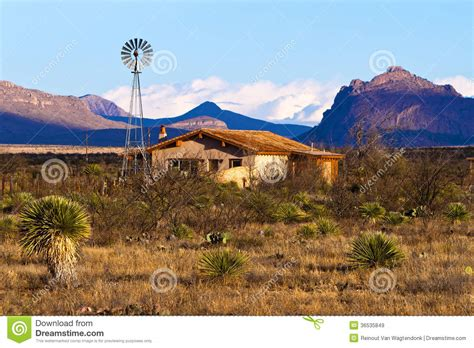 desert ranch house royalty  stock images image