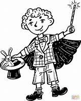 Coloring Magic Magician Pages Clipart Kid Printable Cartoon Clip Supercoloring Drawing Games Popular sketch template