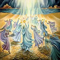 Image result for printable depictions of miriam dancing at the red sea