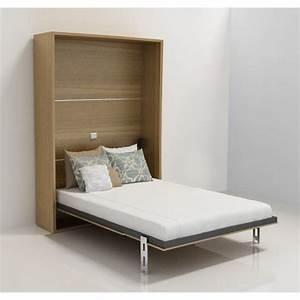 Lit Escamotable Armoire : armoire lit escamotable stone 2 p noyer achat vente ~ Premium-room.com Idées de Décoration