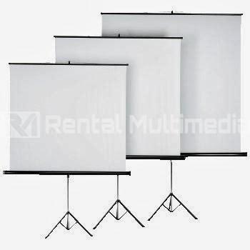 rentalsewa screen tripod murah rental multimedia murah