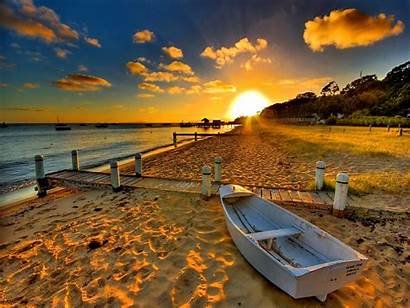 Sunset Beach Romantic Boat Salvo