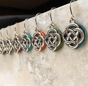 Celtic knot wedding earrings bridal dangle earrings for Irish wedding gifts from ireland