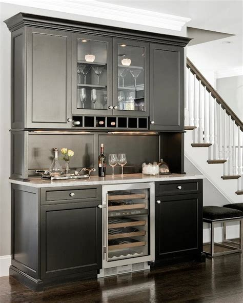 Black Kitchen Pantry by Black Butlers Pantry Cabinets Transitional Kitchen