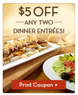 olive garden free appetizer olive garden lots of coupons 5 2 entrees free