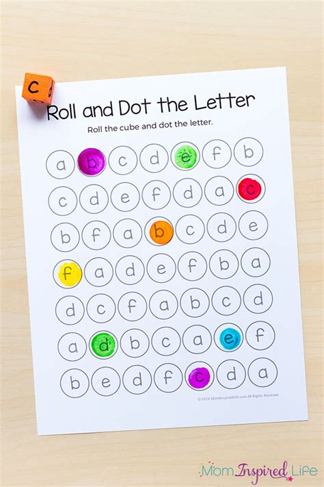 alphabet printables and activities for preschool and 782 | Alphabet Activities Printable Pack Roll and Dot the Letter