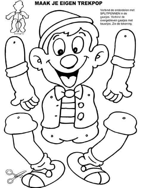 Kleurplaat Maneschijn by Kleurplaat Trekpop Pinokkio Kleurplaten Nl