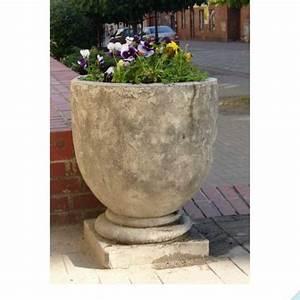Blumentöpfe Aus Stein : tolle amphore aus steinguss mit lochbohrung ~ Lizthompson.info Haus und Dekorationen