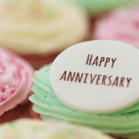 happy anniversary signature vanilla   cupcake
