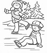 Skating Coloring Ice Pages sketch template