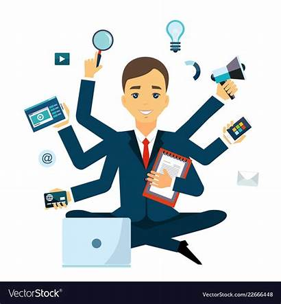 Multitasking Skill Vector Multi Businessman Vectors