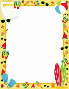 August Border: Clip Art, Page Border, and Vector Graphics