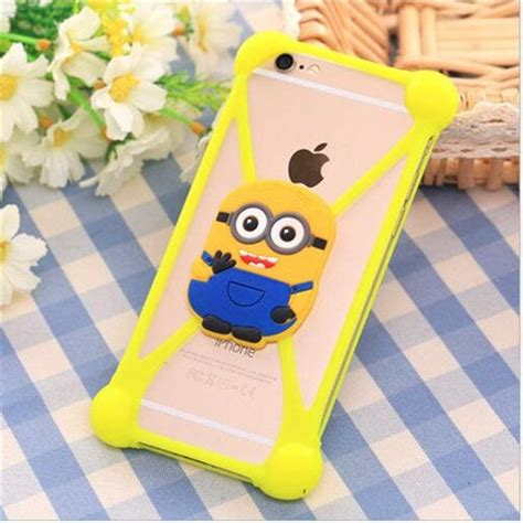 color colorful 3d soft minnie minion silicone phone cover for bluboo