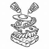 Coloring Sandwich Breakfast Objects Colazione Prima Panino Outlines Illustrazione Egg Illustratie 30seconds Ei Eating Colorare Isolated Premium Uovo Della Kaffee sketch template