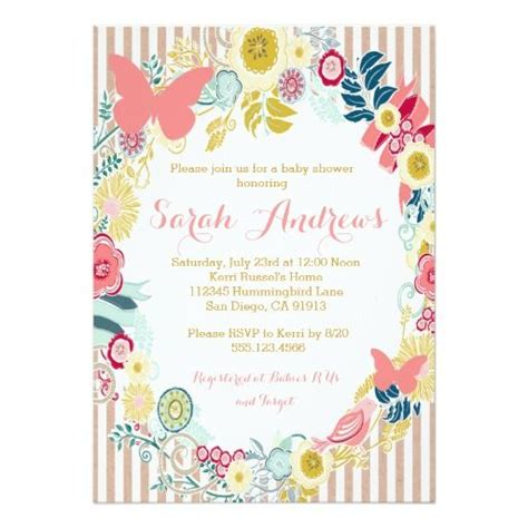 butterfly baby shower invitations images