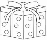Christmas Coloring Box Gift Pages Presents Present Boxes Printable Getcoloringpages sketch template