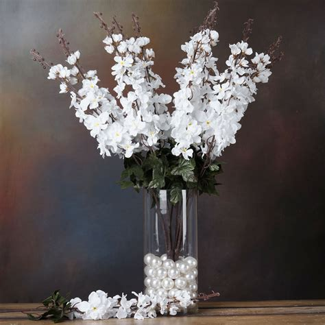 3 Delphinium Bushes Silk Filler Flowers For Wedding