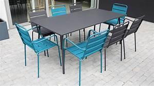 Salon De Jardin Metal : salon de jardin metal table et fauteuils ~ Dailycaller-alerts.com Idées de Décoration