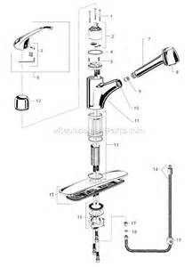 american standard kitchen faucets parts american standard 4205 104 parts list and diagram ereplacementparts