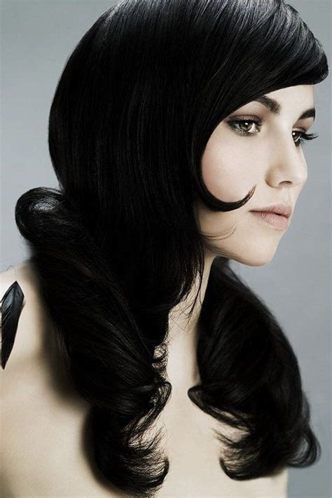 Glossy Black Hair by A Simple Glossy Black Hair Color Can Most Definitely Do