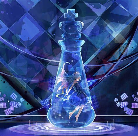 Anime Wallpaper Blue by Wallpaper Anime Blue Hair Water Purple Glass