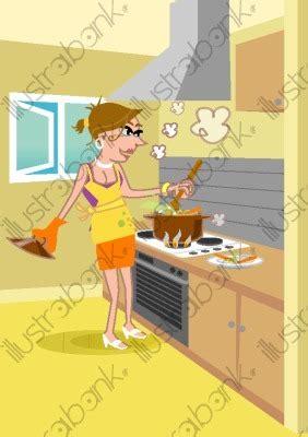 femme qui cuisine femme qui cuisine illustration cuisinant libre de droit