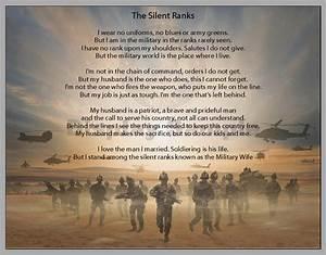 Personalized Silent Ranks Military Wife Poem Print   eBay