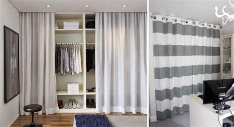 vestidores abiertos  cortinas ideas de armarios