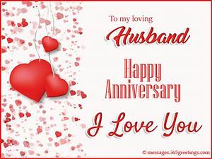 happy anniversary wishes for husband 365greetingscom With wedding anniversary message to husband