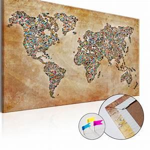 Pinnwand Weltkarte Kork : leinwandbilder xxl pinnwand innovation kork leinwand bild weltkarte pwb0040 ~ Markanthonyermac.com Haus und Dekorationen