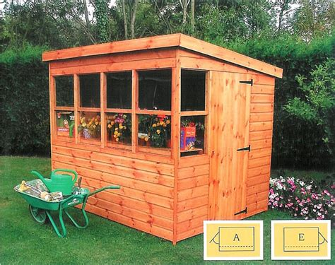 Garden Shed 8x6 Best Price by Shedlands Traditional Sun Pent Wood Potting Shed 8x6