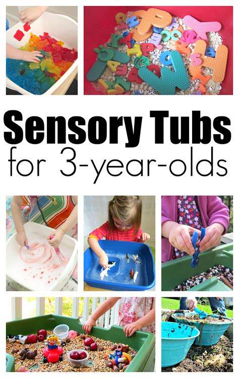 10 sensory tubs for 3 year olds no time for flash cards 668 | sensory tubs for 3 year olds