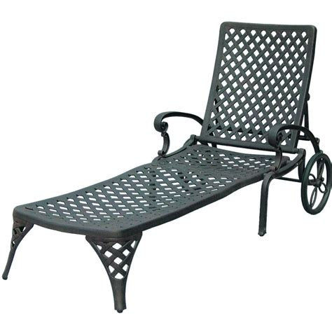 darlee nassau cast aluminum patio chaise lounge ultimate