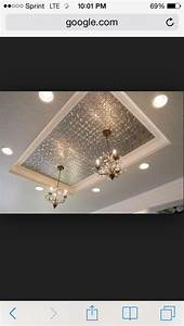 Light Tubes For Ceilings Kitchen Light Box Update Stamped Metal With Chandeliers