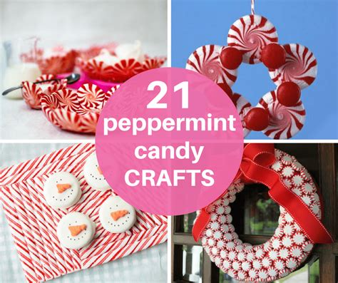 A Roundup Of 21 Peppermint Candy Crafts For Christmas